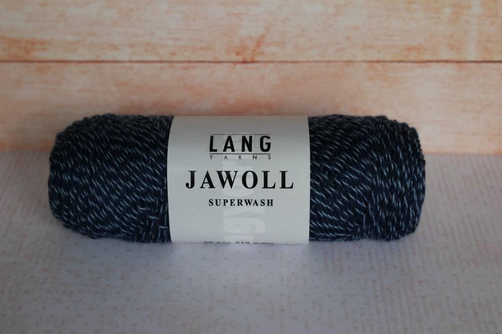LangYarns JAWOLL Superwash 058 Wit / Blauw