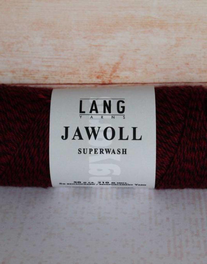 LangYarns JAWOLL Superwash 056 Zwart / Rood