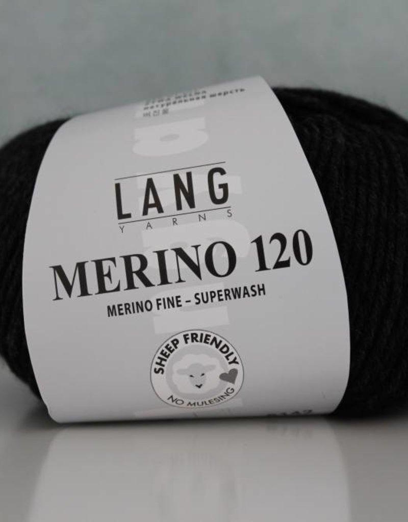 LangYarns Merino 120 - 005 Anthraciet