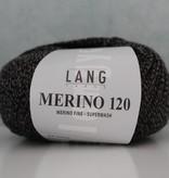 LangYarns Merino 120 - 050 Zwart Taupe