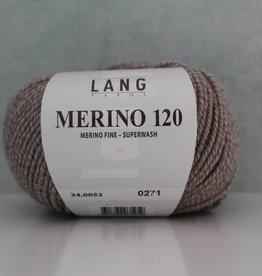LangYarns Merino 120 - 052 Taupe Wit