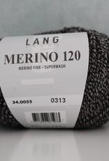 LangYarns Merino 120 - 055 Zwart Grijs