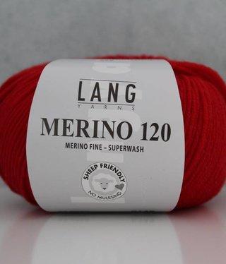 LangYarns Merino 120 - 060 Verkeersrood