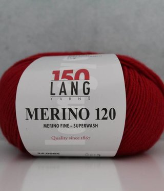 LangYarns Merino 120 - 086 Vuurrood