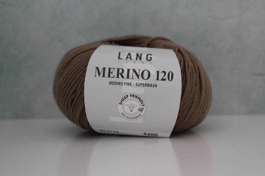 LangYarns Merino 120 - 126 Olijfbruin