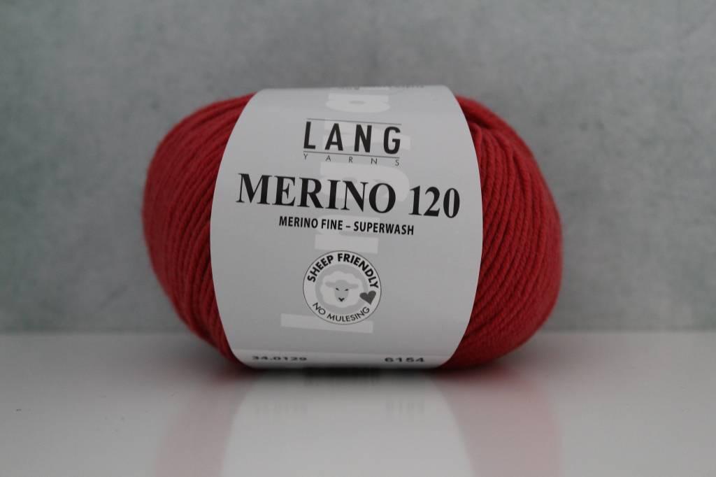 LangYarns Merino 120 - 129 Vermiljoen