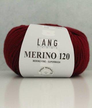 LangYarns Merino 120 - 163 Wijnrood