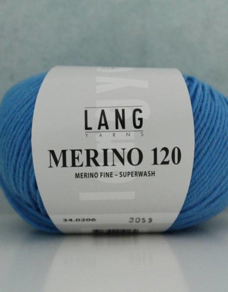 LangYarns Merino 120 - 206 Signaalblauw