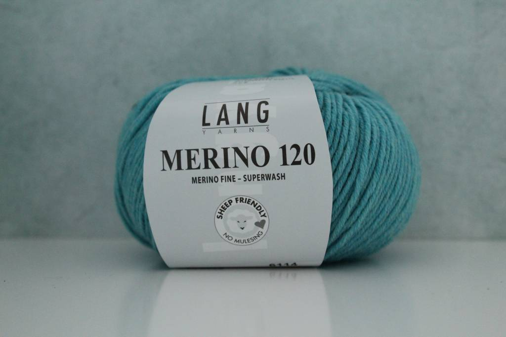 LangYarns Merino 120 - 372 Waterblauw