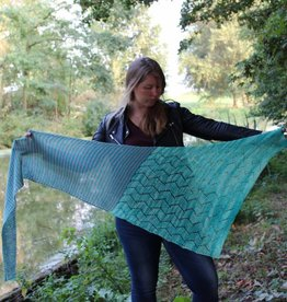 Amilishly Designs Segelschiff am See Shawl Breipakket