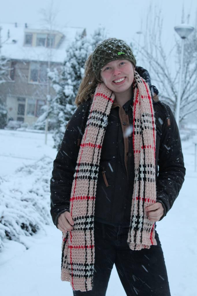 Kristel Heijndijk Designs Classy Crochet Checkered Shawl - los patroon