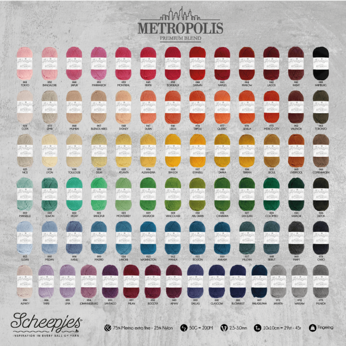 Scheepjeswol Metropolis 009 - Madrid