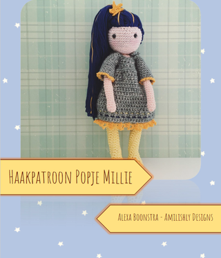 Amilishly Designs Haakpatroon AMILISHLY Amigurumi - Popje Millie