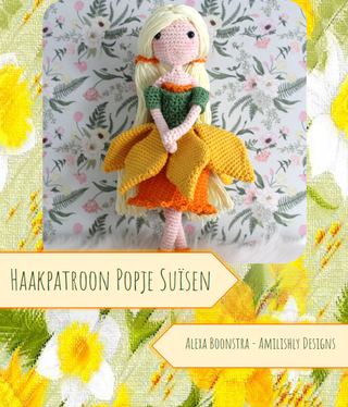 Amilishly Designs Haakpatroon AMILISHLY Amigurumi - Narcismeisje Suïsen