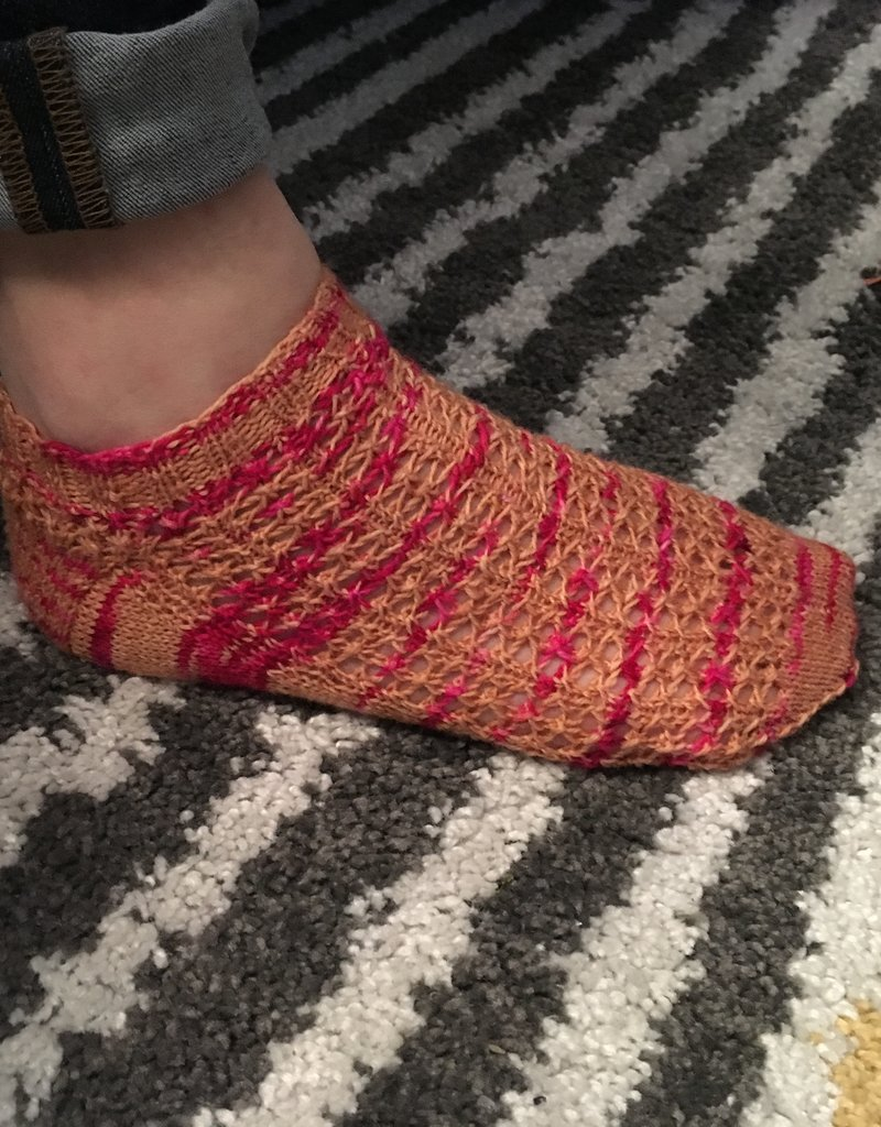 Bianca Boonstra Designs Los Patroon - Roze Koek Sokken