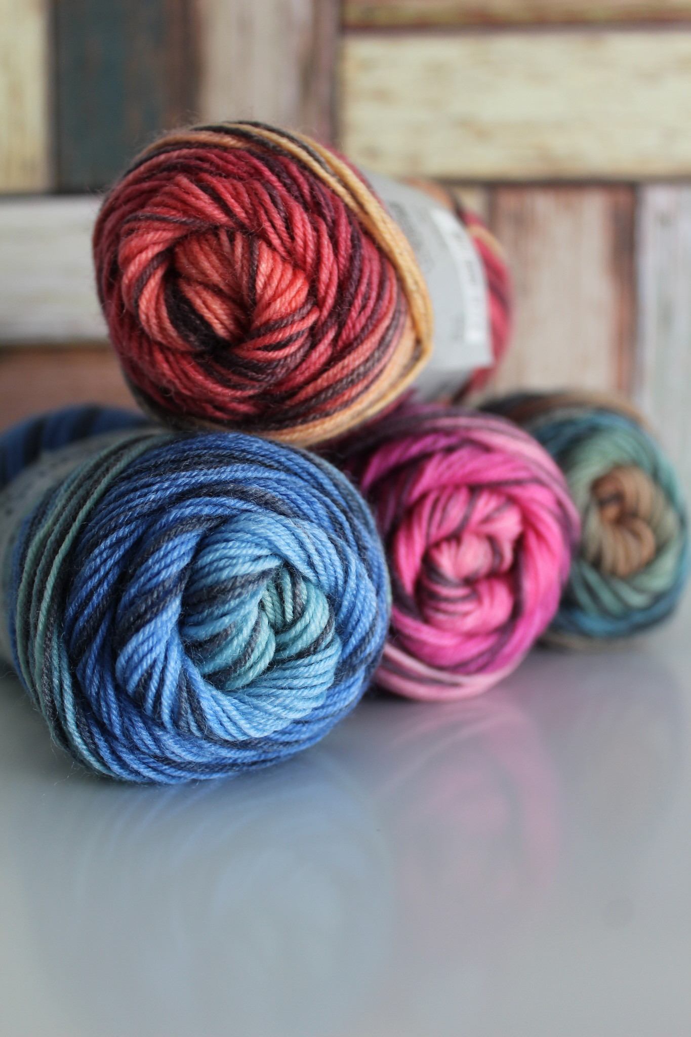 LangYarns JAWOLL Twin 15 Roze Streep Degradé