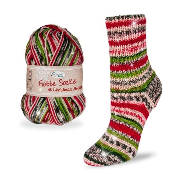 Rellana Voororder: Flotte Socke Glitter - Christmas 2021