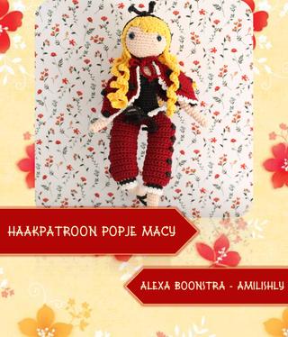 Amilishly Designs Haakpatroon AMILISHLY Amigurumi - Popje Macy