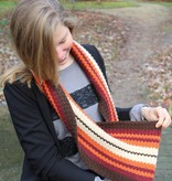 Amilishly Designs Haakpakket Dwarse sjaal Swirly Seventies