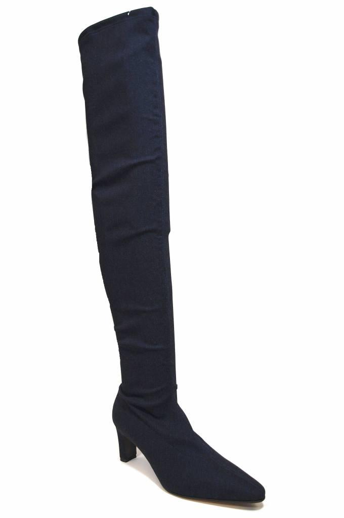 Panara Panara blauwe (jeans) stretchlaars over de knie 2312