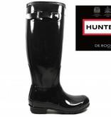 Hunter Boots Dames Hunter Womens Original Tall Gloss Zwart WFT1000RGL-BLK