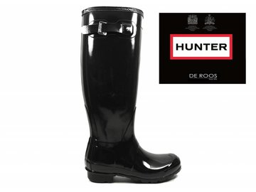 Hunter Boots Hunter Womens Original Tall Gloss Zwart WFT1000RGL-BLK