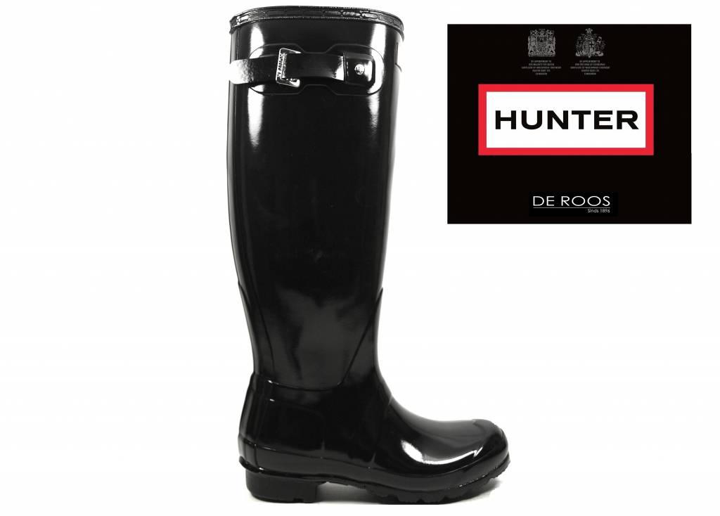 Hunter Boots Hunter Womens Original Tall Gloss Zwart WFT1000RGL-BLK