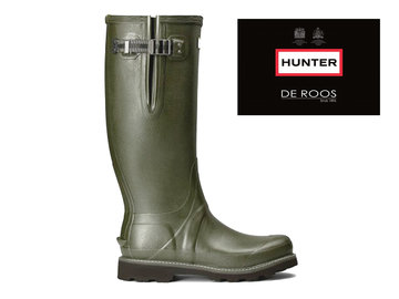 Hunter Boots Dames Hunter Regenlaars Donkergroen Womens WFT1065RPO