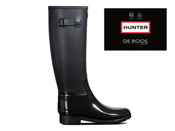 Hunter Boots Dames Hunter Womens Refined Tall Zwart WFT2033DUO-BLK