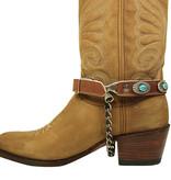 Sendra Boots Sendra Sporen Arnes 267 Cognac/Turquoise