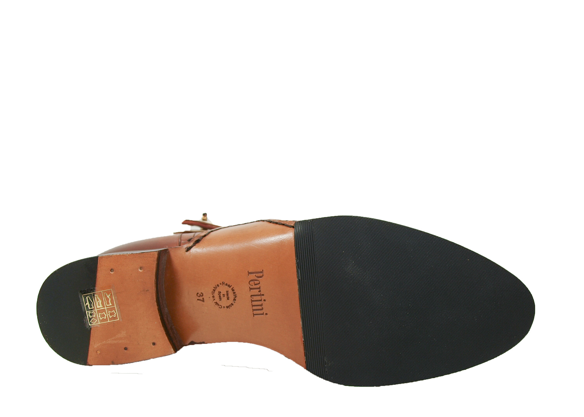 Pertini Pertini Enkellaarsje 192W16003D3 Cognac