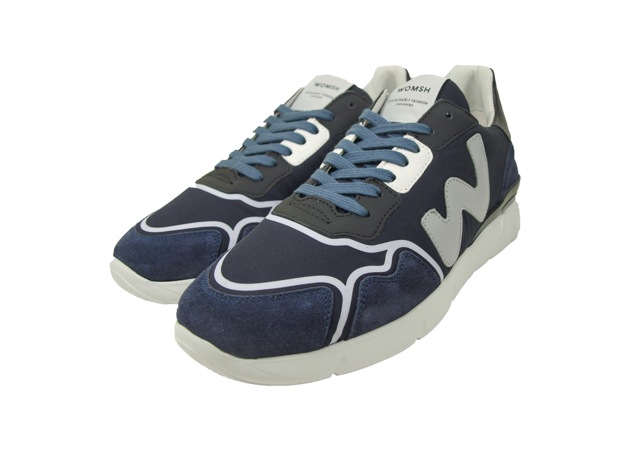 WOMSH WOMSH Sustainable Sneaker R202454 Runny Blue