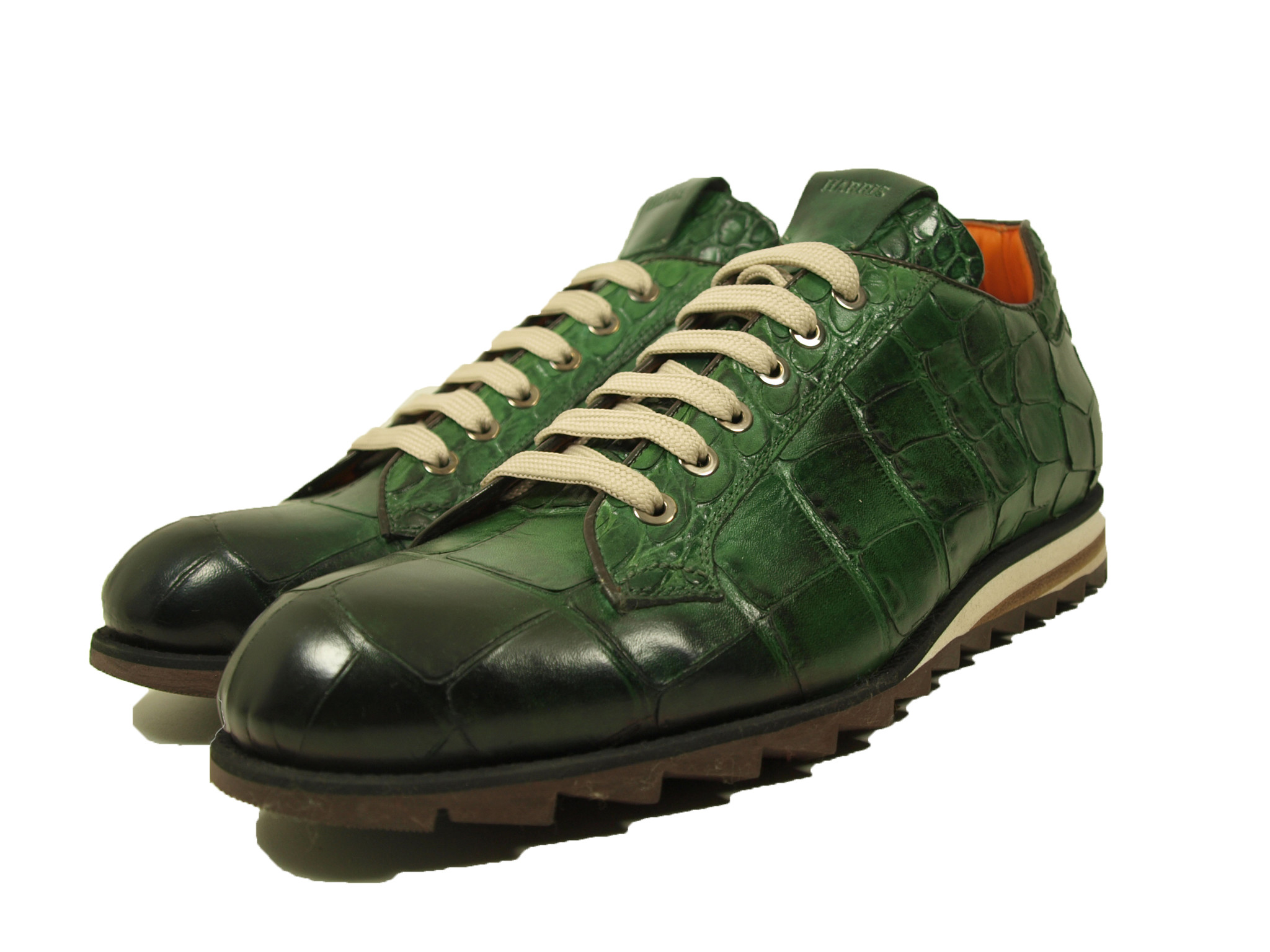 Harris Harris Veterschoen 7727 Donkergroen met Croco (Verde Smeraldo) Leer