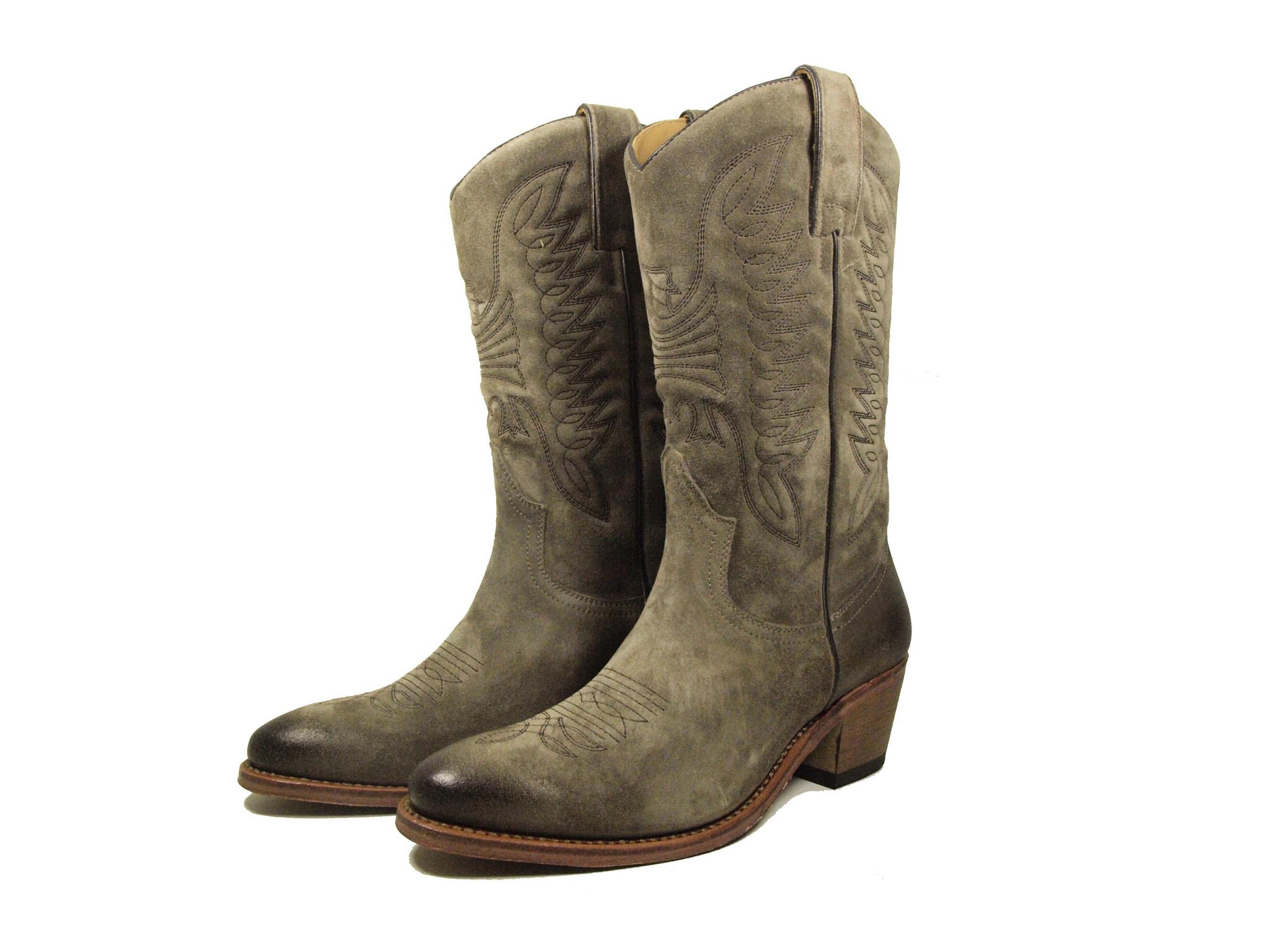 Perlita Peaches Perlita Peaches Western Boots Toliman Taupe/Grijs
