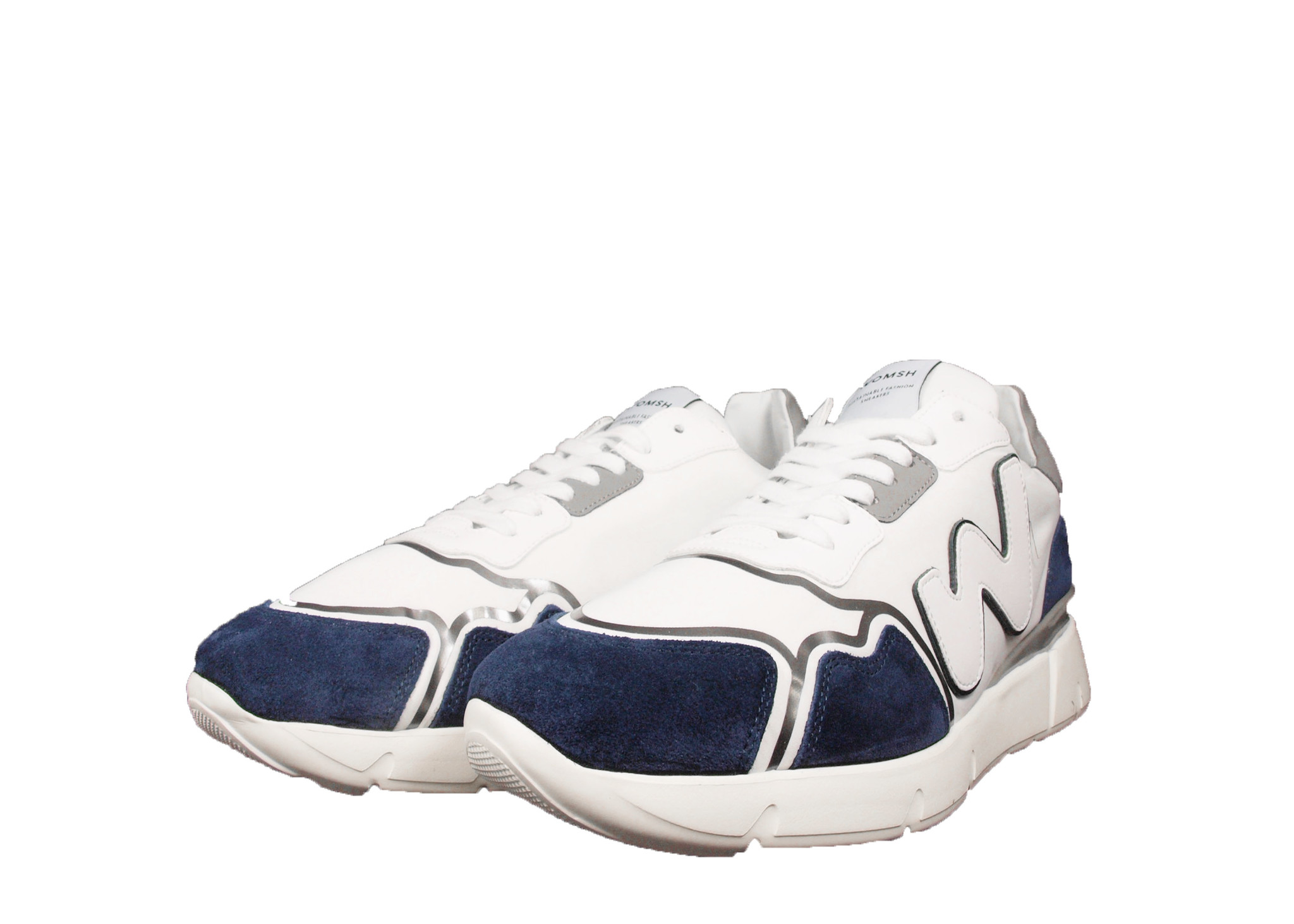 WOMSH WOMSH Sustainable Sneaker R211463 Runny Wit/Blauw