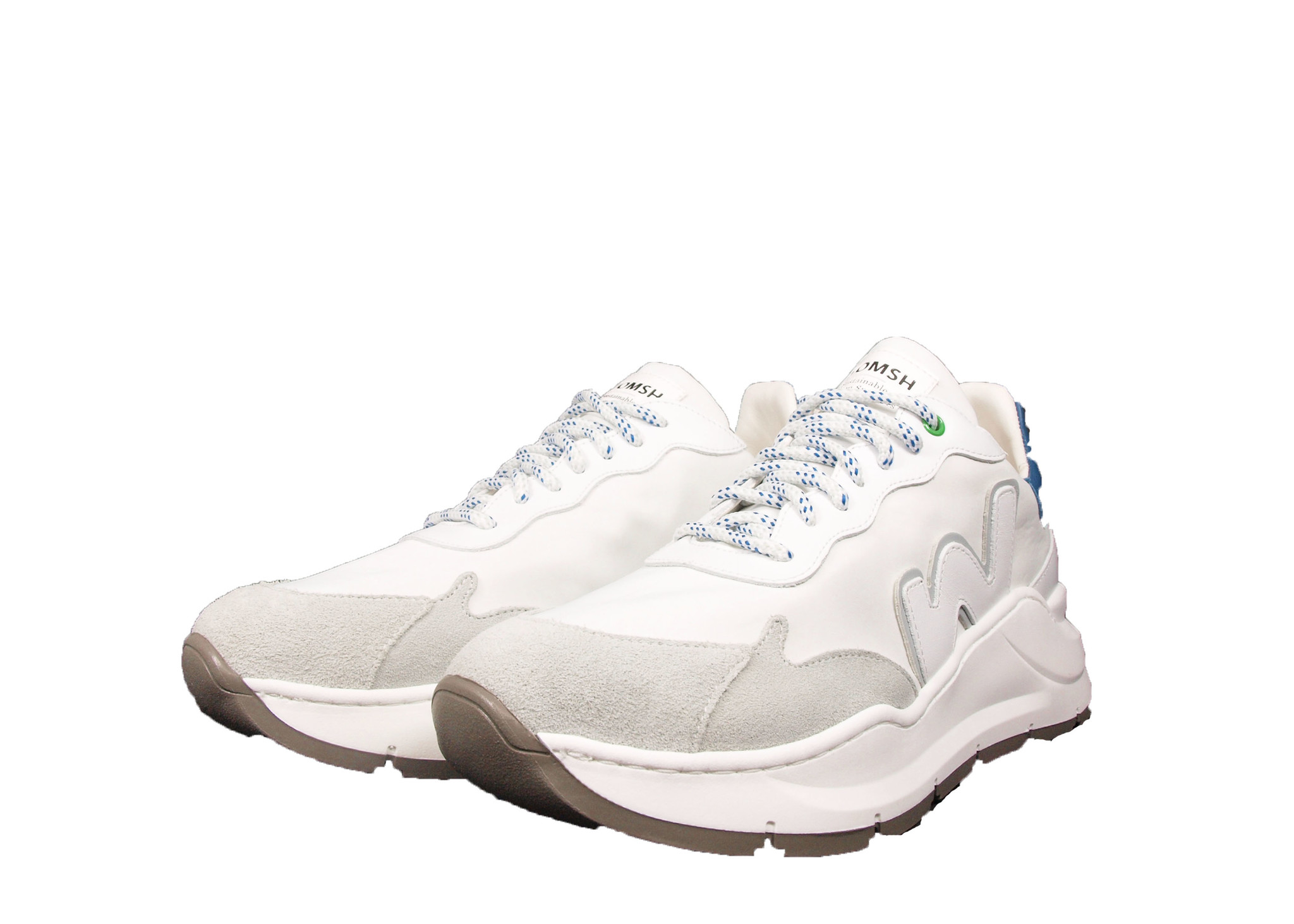 WOMSH WOMSH Sustainable Sneaker W211861 Wave Wit/Blauw