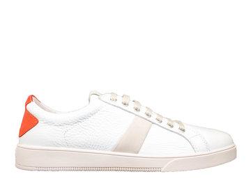 blackstone heren Blackstone Sneaker VG20 Wit/ Oranje