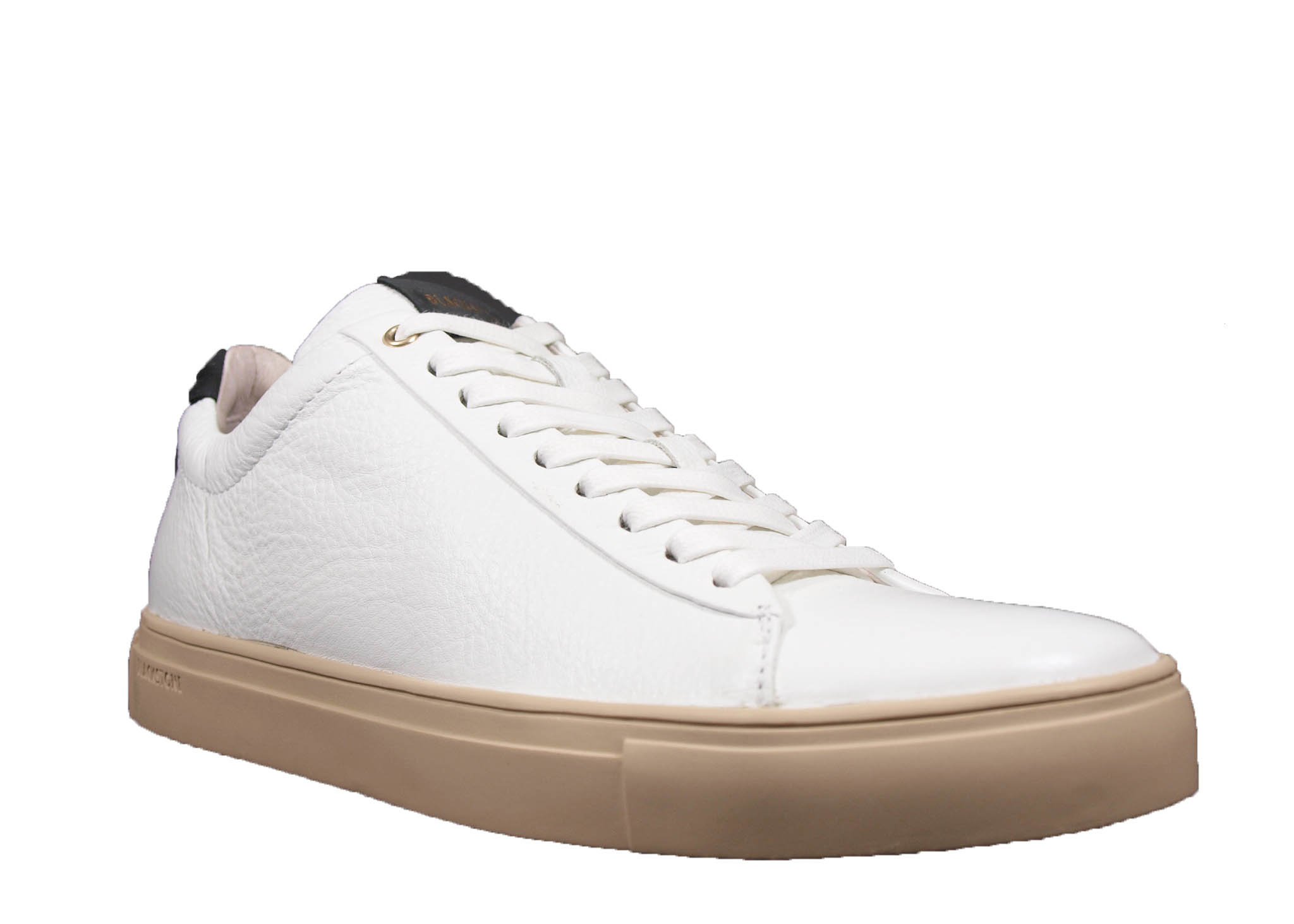 blackstone heren Blackstone Sneaker VG02 Wit/ Zwart Leer