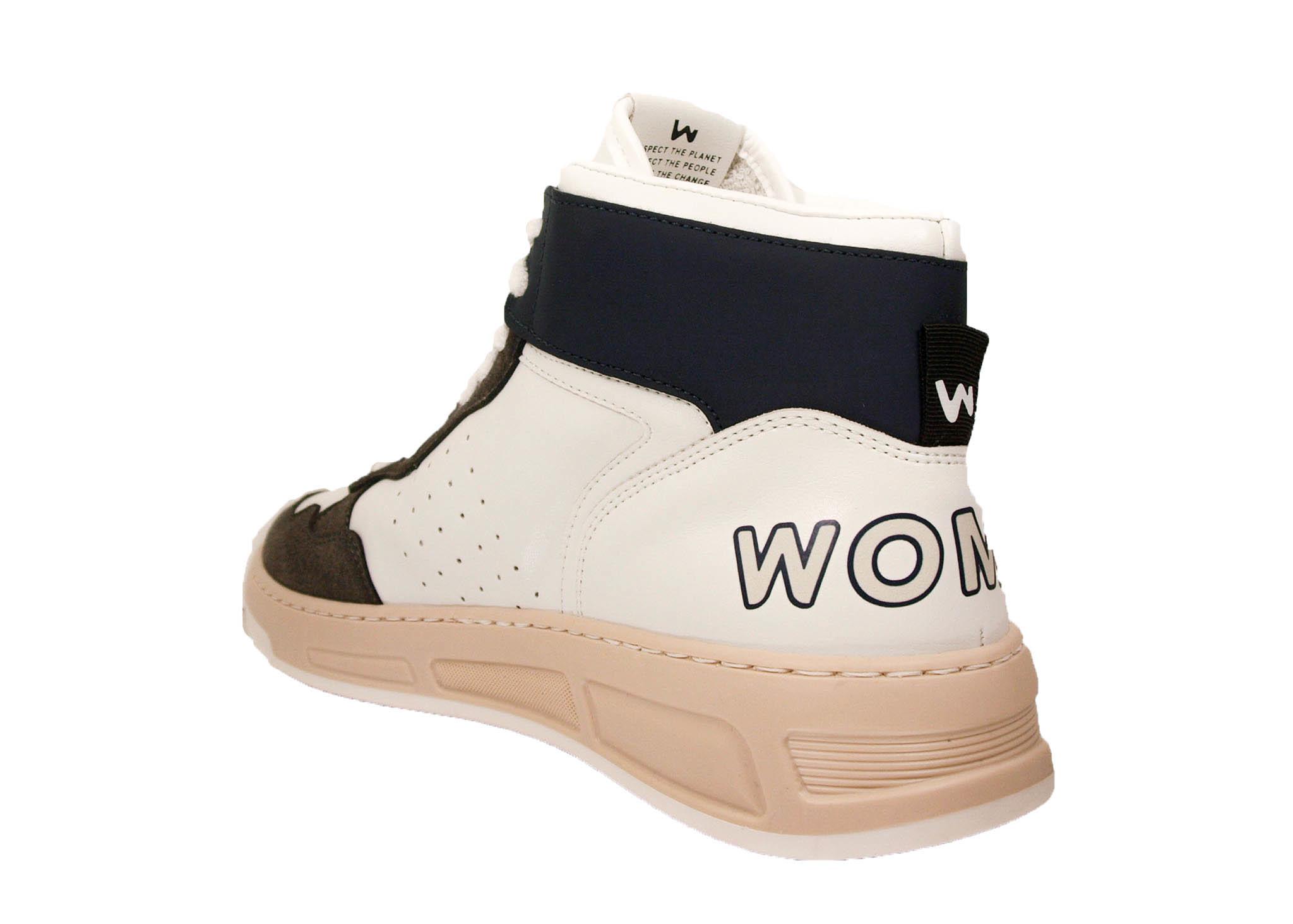 WOMSH WOMSH Super Ocean Sneaker SU008 Wit/Grijs