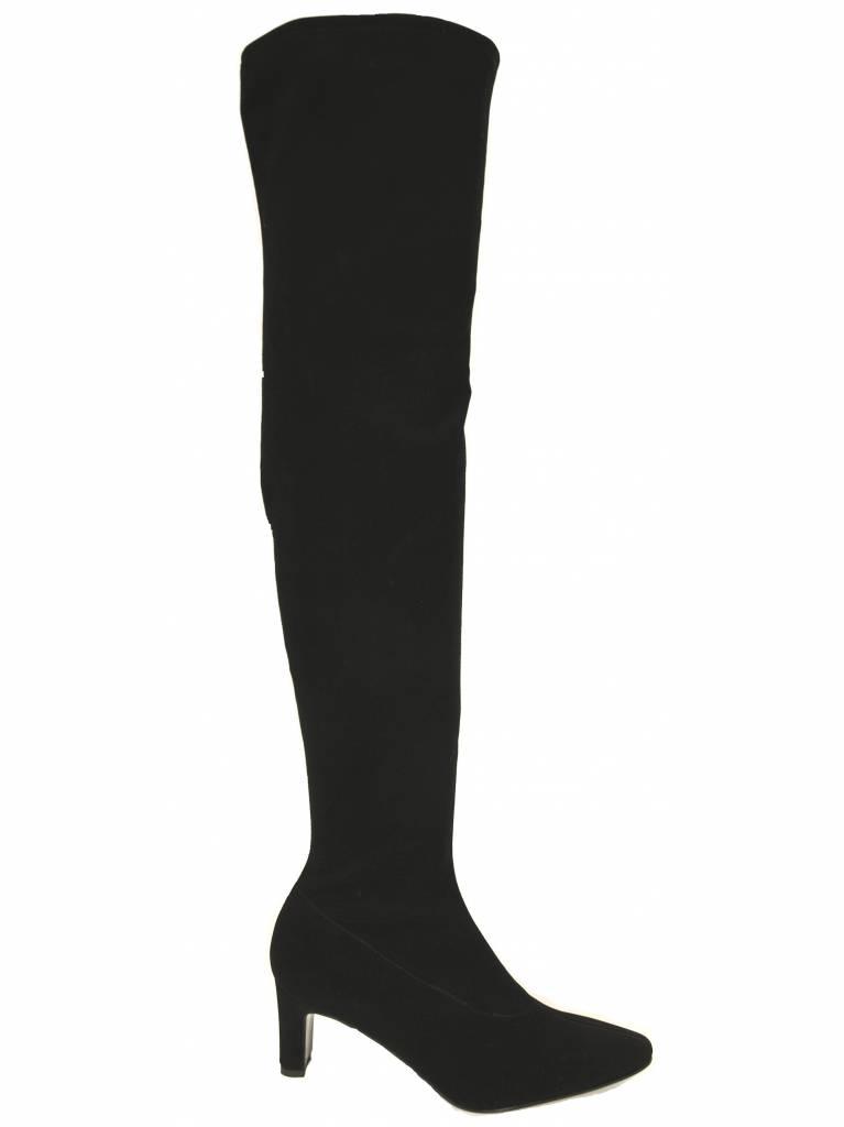 Panara Panara over de knie 2312 elastische laars zwart