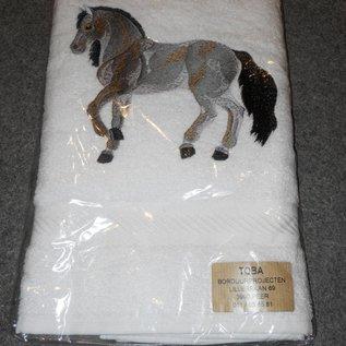 handdoek grijs paard