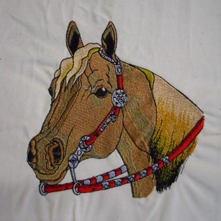 paard met gareel