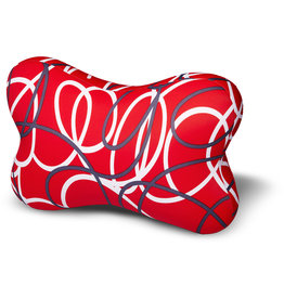 Kuschel-Maxx - Knochen Linien Rot
