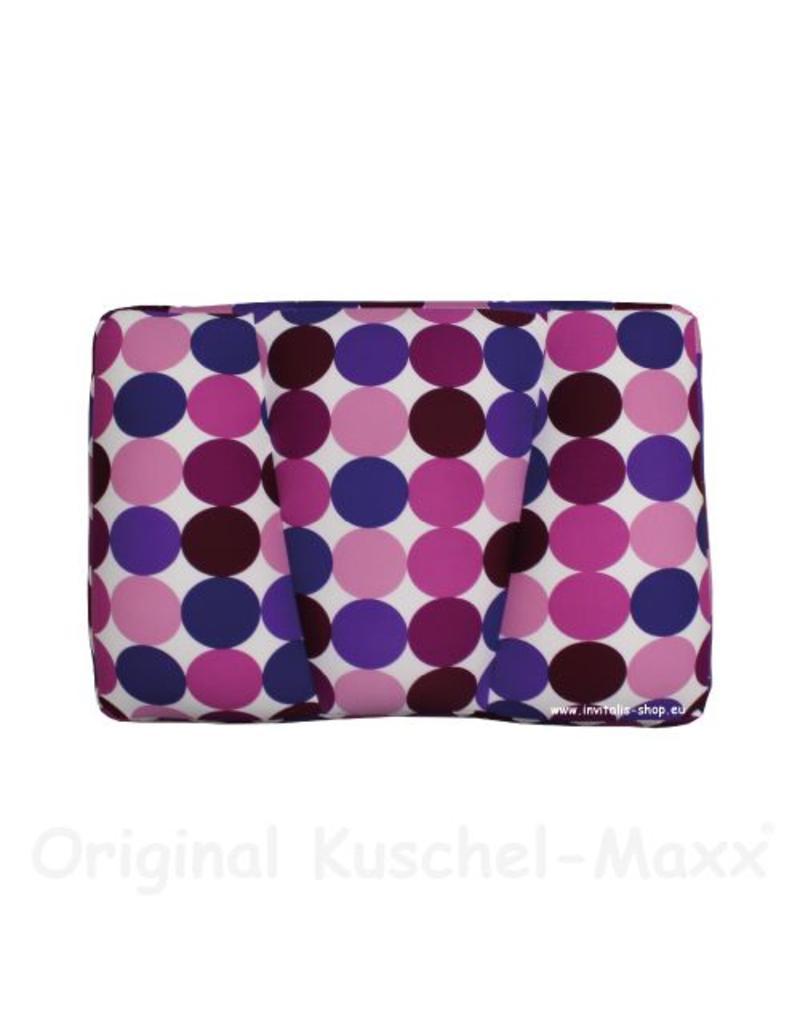 Kuschel-Maxx - Schlafkissen Punkte Violett