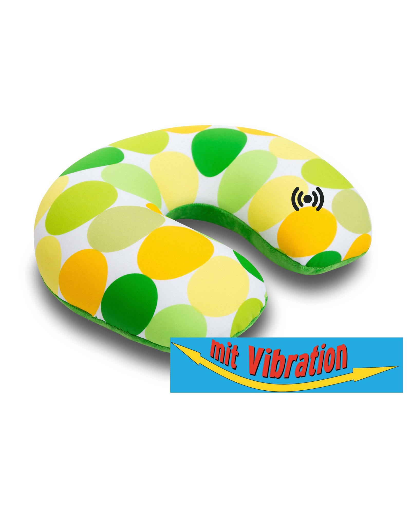 Kuschel-Maxx Kuschel-Maxx - Nackenhörnchen Punkte Gelb -Vibration