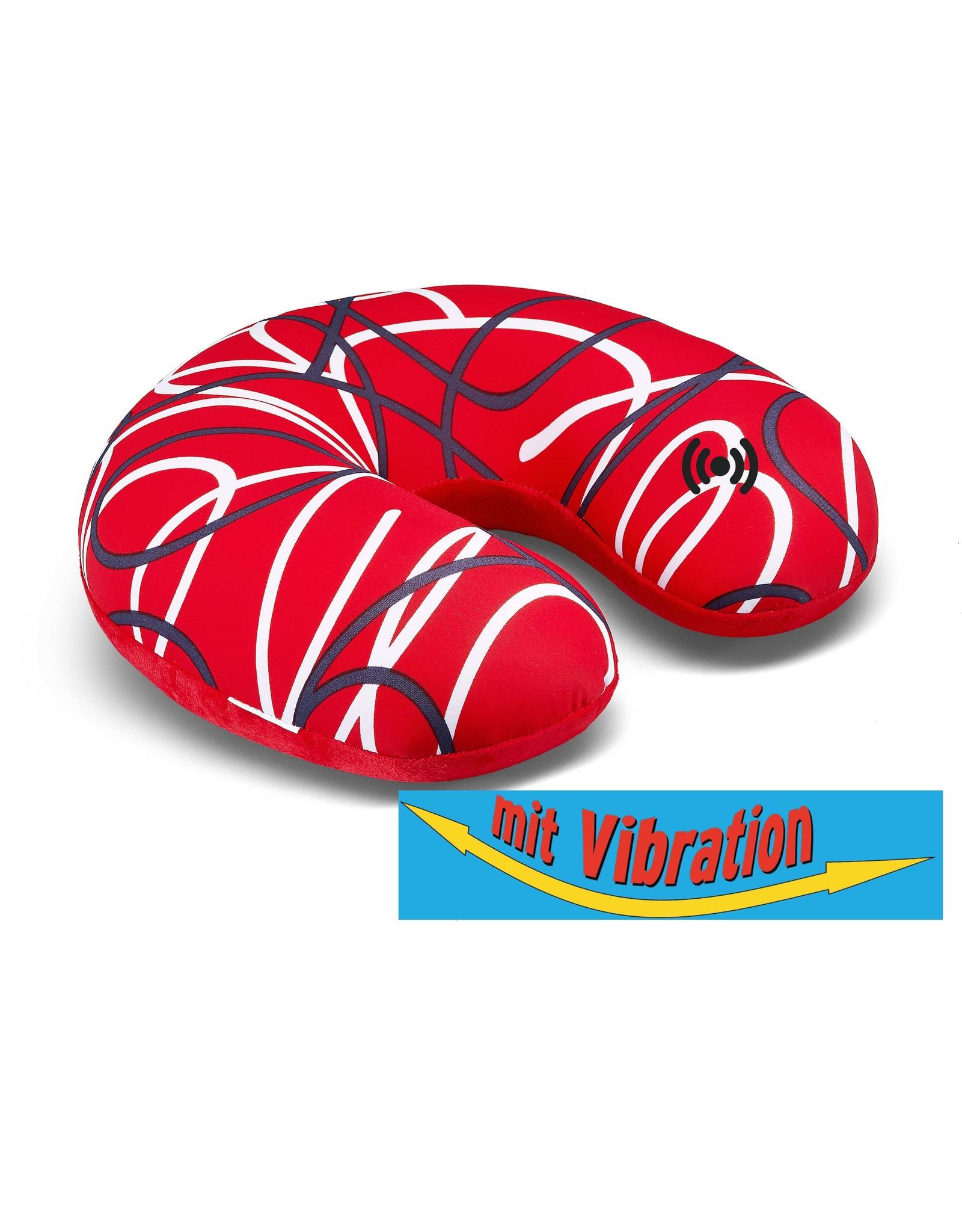 Kuschel-Maxx Kuschel-Maxx - Nack cushion Linien Rot - Vibration