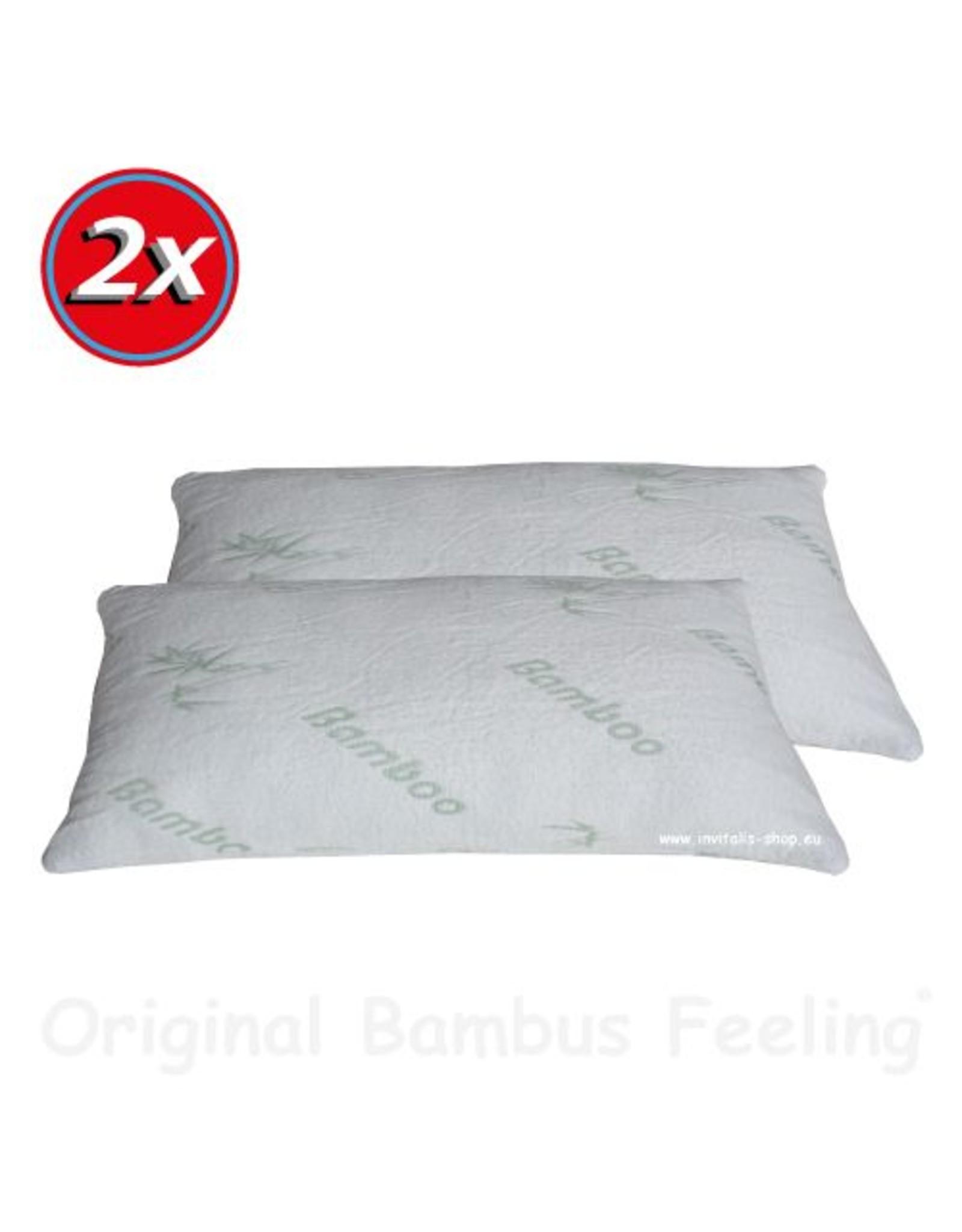 INVITALIS Bambus Kissen - 80x40cm 2er Sparset