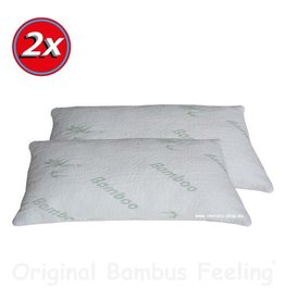 Bamboo-Pillow - 80x40cm 2 pcs Value-Set