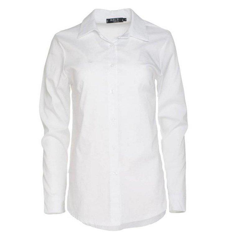 1673d1e8e17195 Basic blouse wit - Topsz fashion boutique