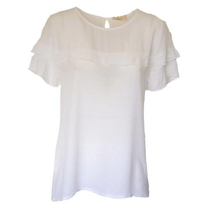 Shirt ruches wit